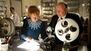Anthony Hopkins as Hitchcock, with Helen Mirren as his wife Alma in HITCHCOCK