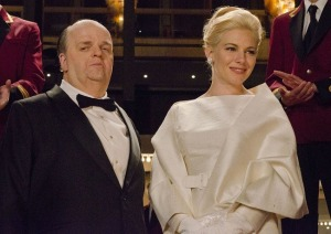 Toby Jones as Hitchcock and Sienna Miller as Tippi Hedren in THE GIRL