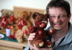 Phillip with one of his cute creations. Aww...