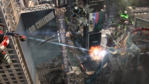 A Times Square that only shows Asylum films like AIR COLLISION...