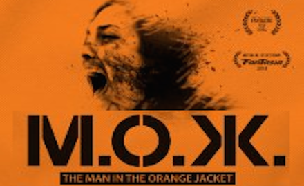 The Man in the Orange jacket banner