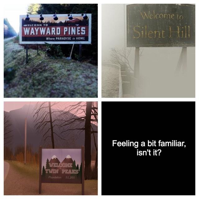 Wayward Pines signs
