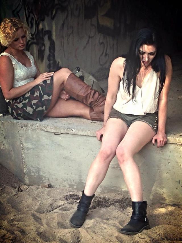 actresses Ellie Church (left) & Tristan Risk (right)
