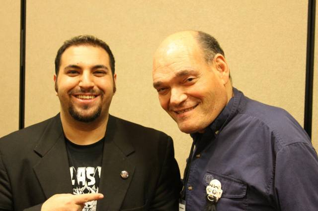 Irwin Keyes with filmmaker James Balsamo