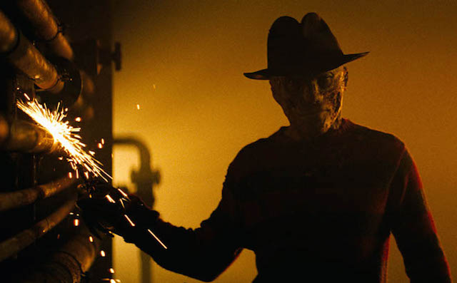 """NOES-FP-020   JACKIE EARLE HALEY as Freddy Krueger in New Line Cinema's horror film, """"A NIGHTMARE ON ELM STREET,"""" a Warner Bros. Pictures release."""