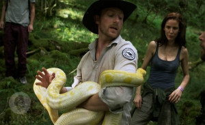 The snake is the most charismatic character in the movie...