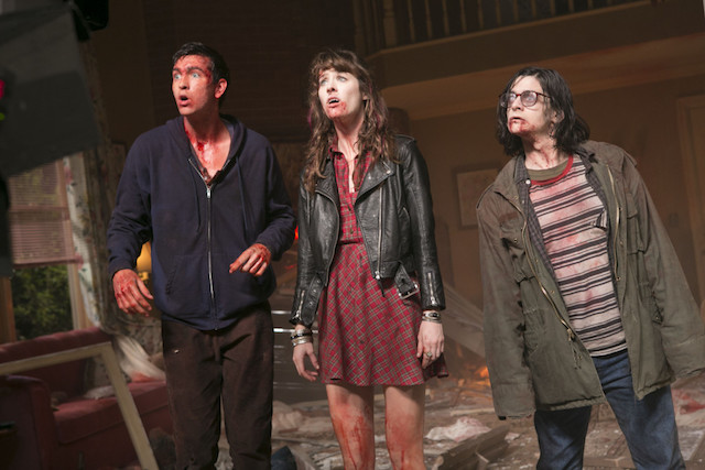 "L-r, Nick Braun, Mackenzie Davis and Josh Fadem in Columbia Pictures' ""Freaks of Nature."""
